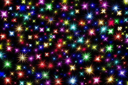 assorted-color star digital wallpaper