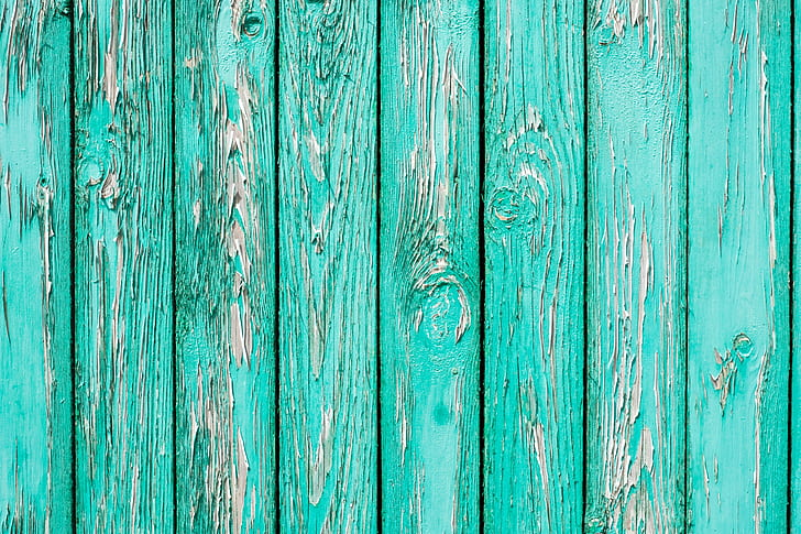 teal wooden surface