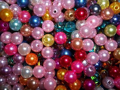 multi-colored bead lot
