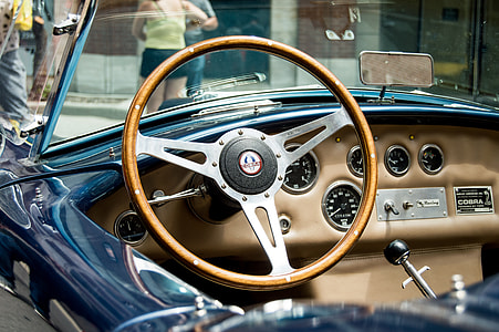 brown steering wheel