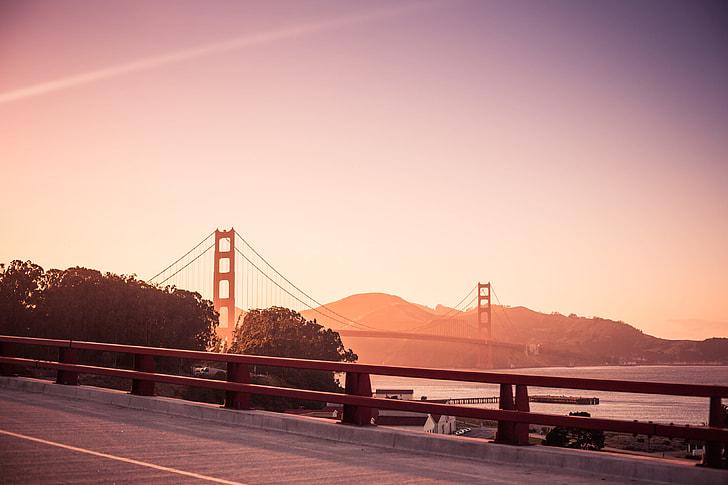 Stunning Golden Gate Bridge at the Evening Sunset
