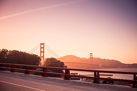 Stunning Golden Gate Bridge at the Evening Sunset