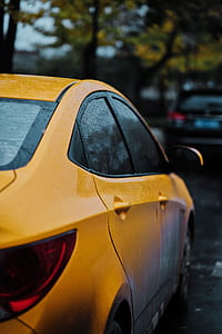 Closeup Photography of Yellow Car