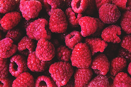 Closeup shot of fresh raspberries