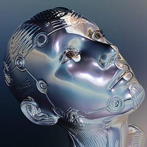 human head bust