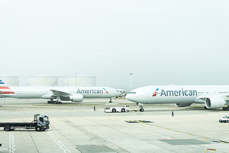 photo of two American air planes
