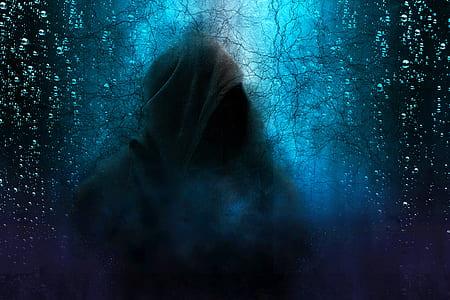 hooded apparition illustration