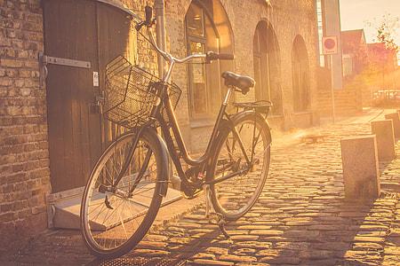 Bicycle on the streets of Copenhagen, Denmark
