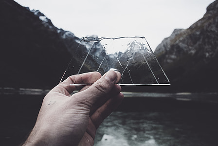 Ice shapes the mountains.