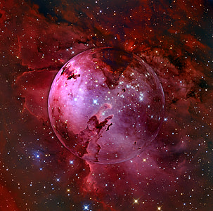 red outer space illustration