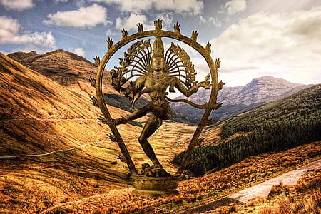 Shiva statue on mountain