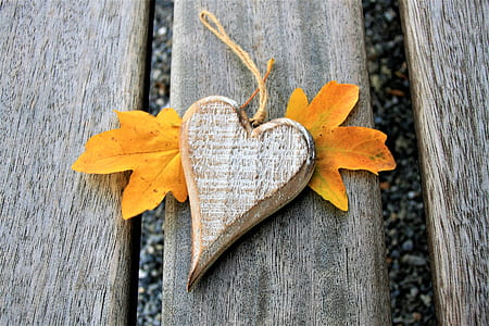 heart-shaped brown hanging ornament