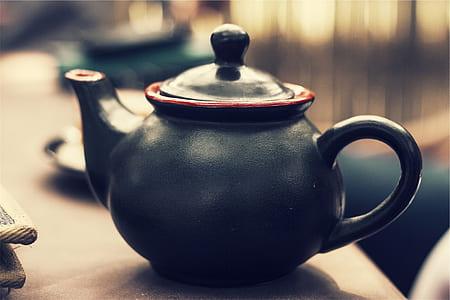 black clay pot