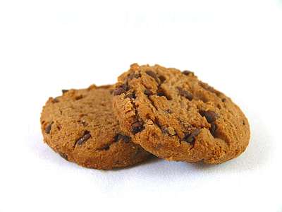 close up photo of two chocolate cookies