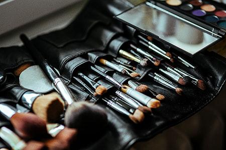 Make-up accessories close-ups