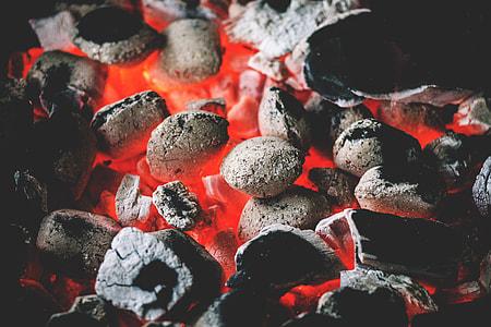 Coal on BBQ