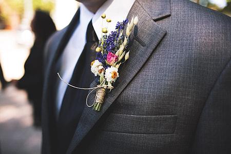Wedding groom in suit