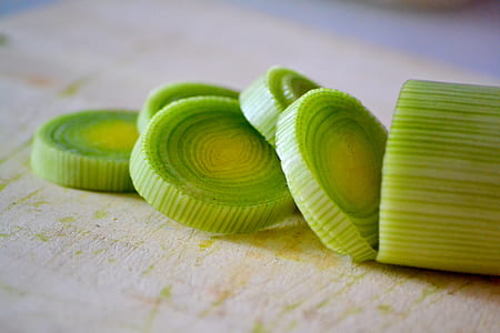 green sliced vegetable