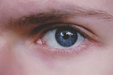 Closeup shot of a human eye