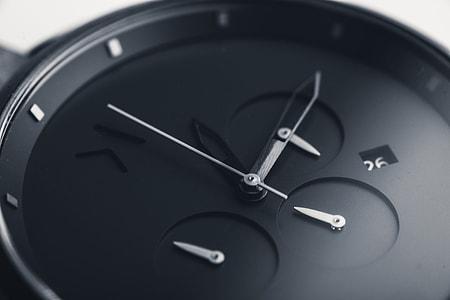 Black wrist watch