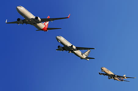 three airplanes