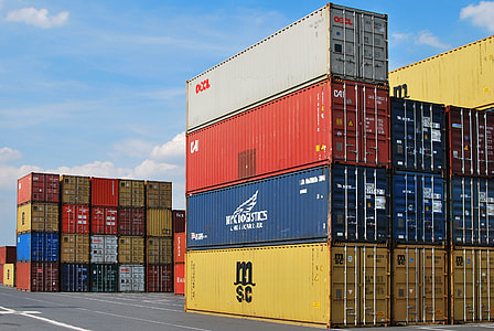 shipping container lot