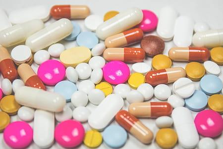 assorted medication pill lot