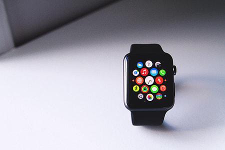 Closeup shot of the Apple Smart Watch