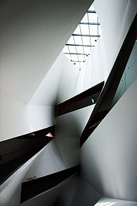 architecture, modern, staircase, indoors