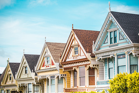 Iconic Painted Ladies in San Francisco, California