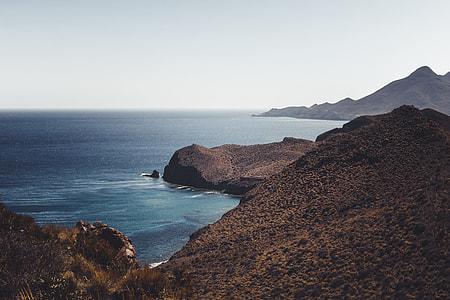 sea on foot of mountain