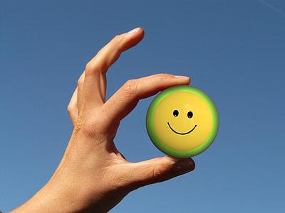 round yellow, green, and black Emoji can