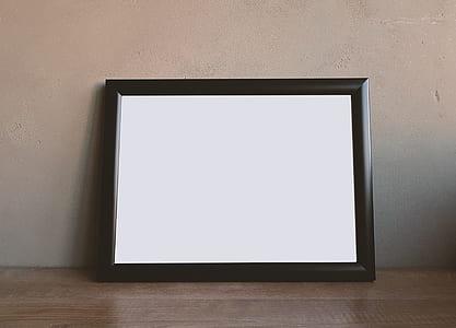 black wooden photo frame