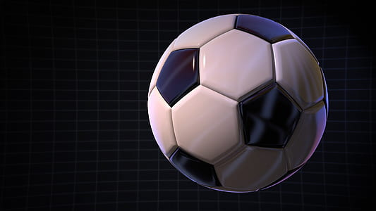 closeup photo of white and black soccer ball