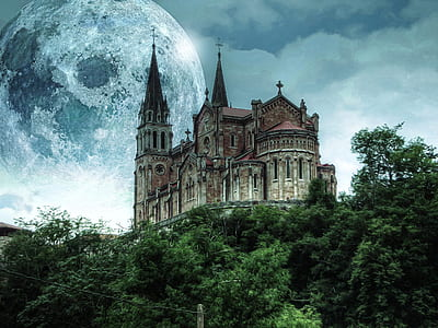 cathedral on mountain