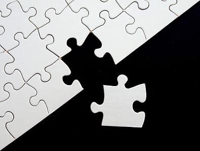 white puzzle board