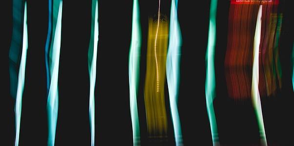 abstract, dark, streak, light, neon, metro