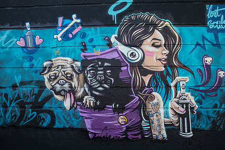 'Lost Souls' street art captured in Camden in Central London, image captured with a Canon 6D