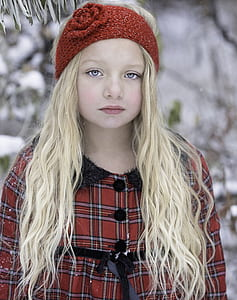 girl in red headband