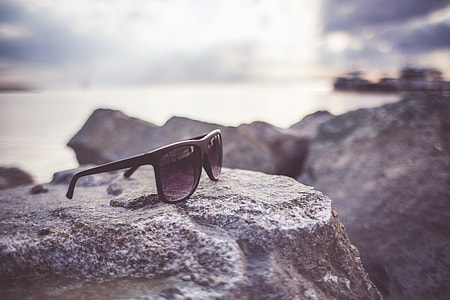 Sunglasses on a Rock
