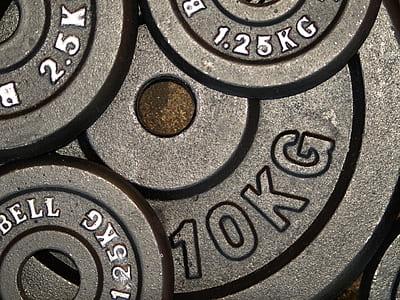 black gym plates
