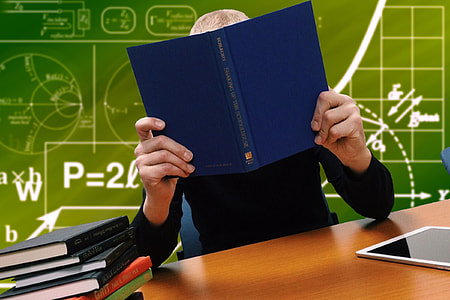 School study in classroom