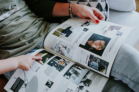 Woman read a magazine