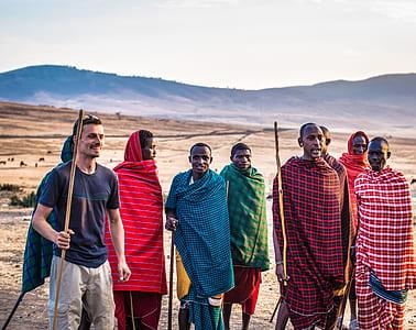 Group of Man on a Desert