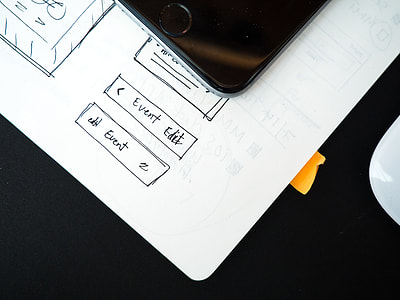 Wireframe Web Design iPhone Mouse