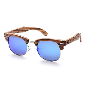 purple sunglasses with brown frames
