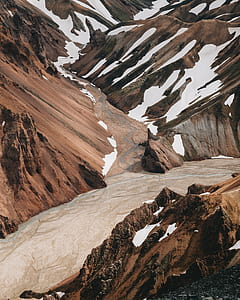 brown rock formation landscape photograph