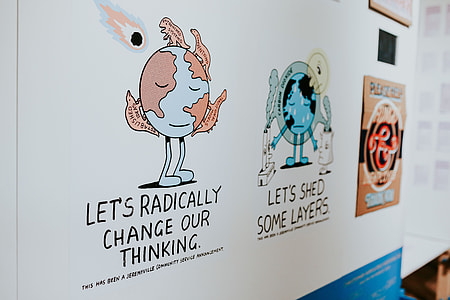 Collection of though-provoking posters and graphics