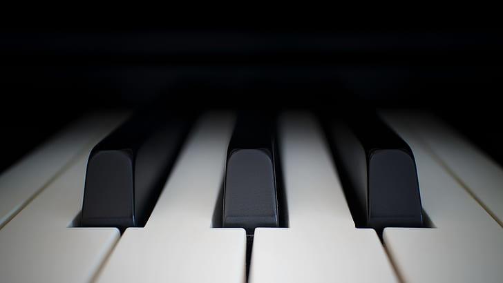 closeup photo of black and white keyboard