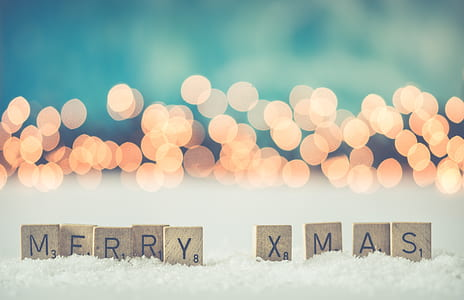 selective focus photo of Merry X Mas freestanding letters